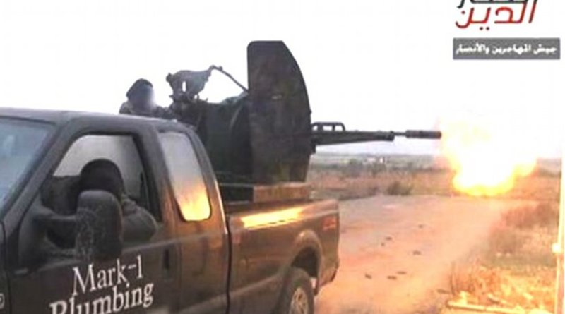 Photo of truck was tweeted by a group called the Ansar al-Deen front.