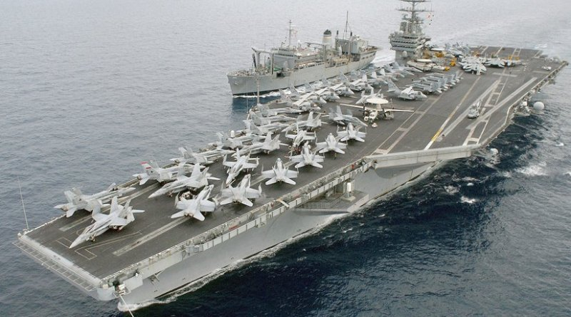 File photo of USS Harry S. Truman. U.S. Navy photo by Photographer's Mate 2nd Class John L. Beeman, Wikipedia Commons.