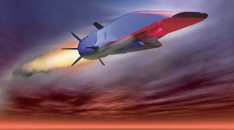 X-51A Waverider, U.S. Air Force graphic, Wikipedia Commons.
