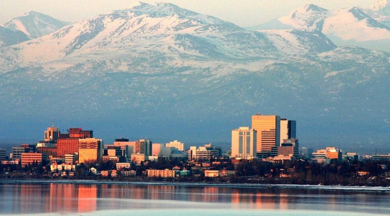 Anchorage, Alaska. Photo by Frank K, Wikipedia Commons.