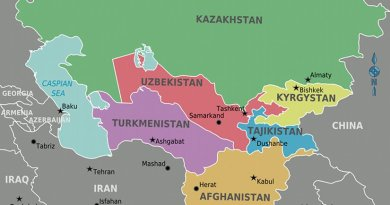 Central Asia. Map by Cacahuate, Wikipedia Commons.