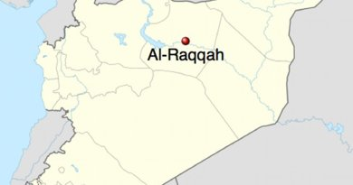 Location of Al-Raqqah in Syria. Source: Wikipedia Commons.