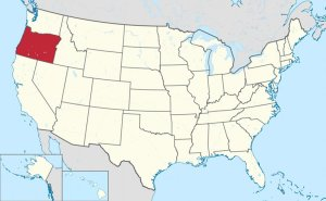 Location of Oregon in United States. Source: Wikipedia Commons.