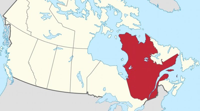Location of Quebec in Canada. Source: Wikipedia Commons.