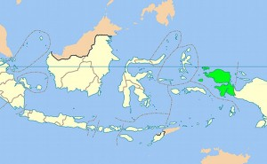 Location of West Papua in Indonesia. Source: Wikipedia Commons.