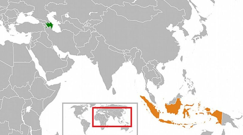 Locations of Azerbaijan and Indonesia. Source: Wikipedia Commons.