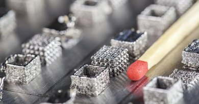 Sample pieces made from titanium aluminide