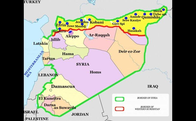 Western Kurdistan. Source: Wikimedia Commons.