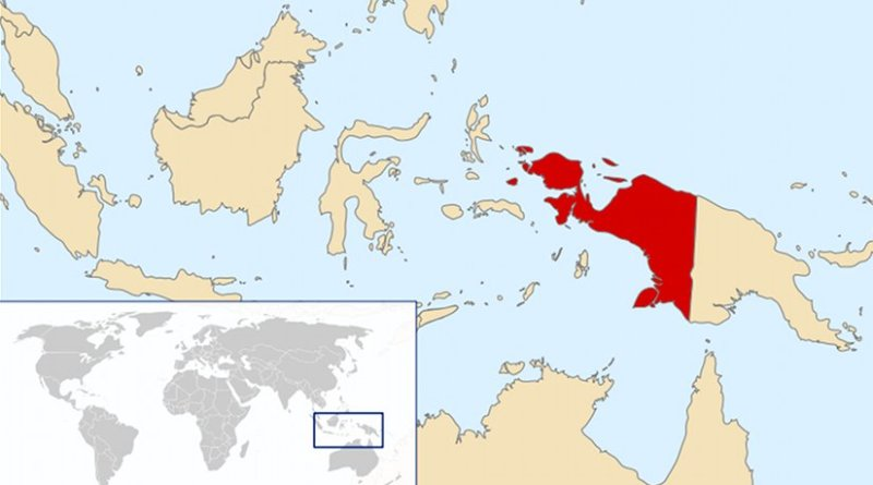 Location of West Papua New Guinea. Source: Wikipedia Commons.
