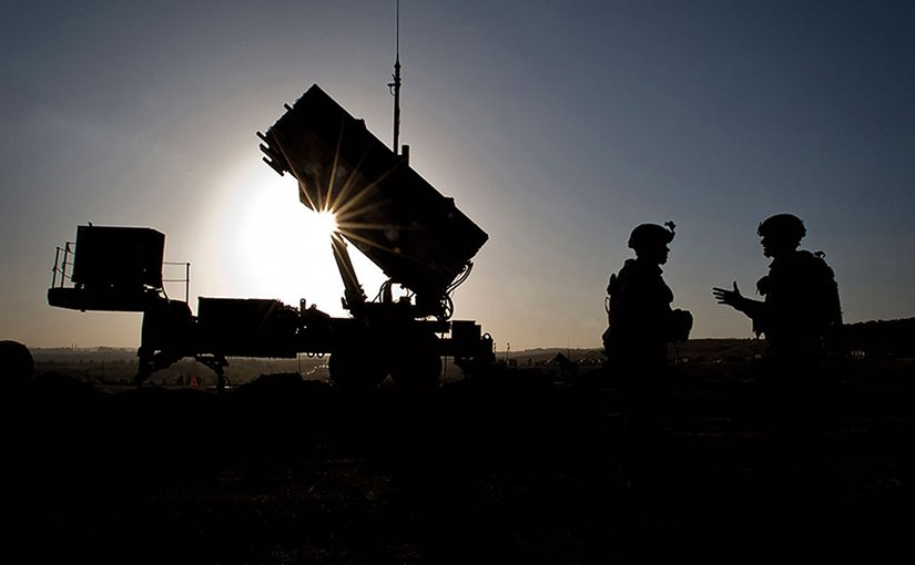 U.S. Soldiers with 3rd Battalion, 2nd Air Defense Artillery Regiment, talk after routine inspection of Patriot missile battery at Turkish military base in Gaziantep, Turkey, February 26, 2013 (DOD/Sean M. Worrell)