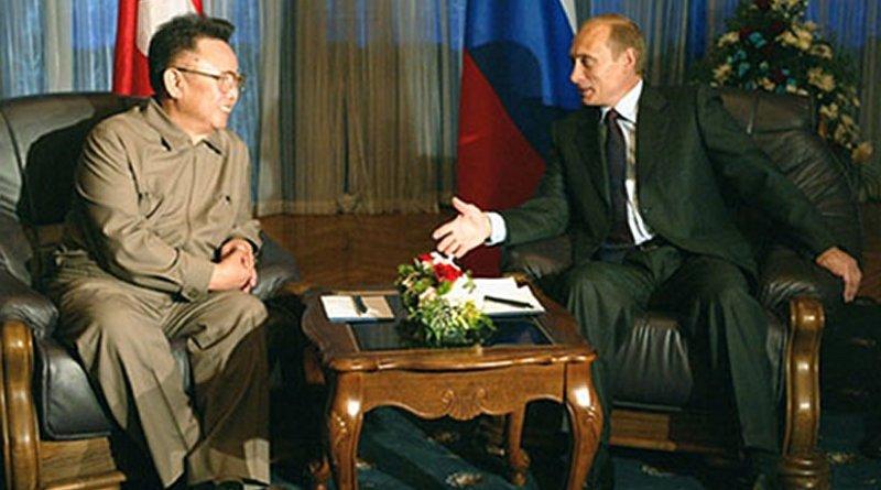 President Vladimir Putin meeting with North Korean leader Kim Jong Il. Source: Kremlin.ru, Wikipedia Commons.