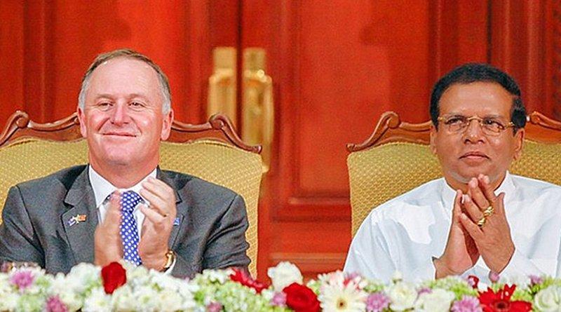 Sri Lanka's President Maithripala Sirisena and New Zealand Prime Minister John Key. Photo Credit: Sri Lanka President's Office.