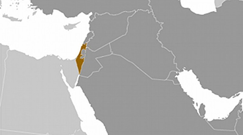 Location of Israel. Source: CIA World Factbook.