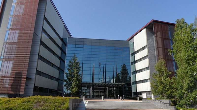 Headquarters of Nokia Siemens Networks in Espoo, Finland. Photo by Villeke, Wikipedia Commons.