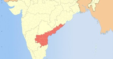 Location of Andhra Pradesh in India. Source: Wikipedia Commons.