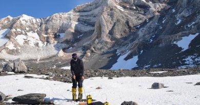 Working in Antarctica. Photo Credit: Northumbria University