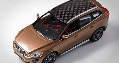This model car's carbon fibre roof and battery electrodes are made with wood.