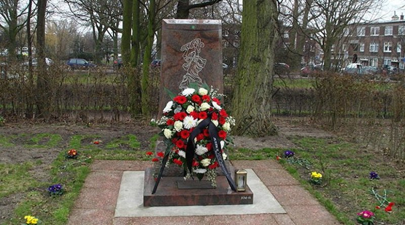 Khojaly Massacre Memorial in The Hague, Netherlands. Photo by Mursel, Wikipedia Commons.