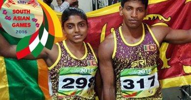 Sri Lanka athletes at 12th South Asian Games. Photo Credit: Sri Lanka government.