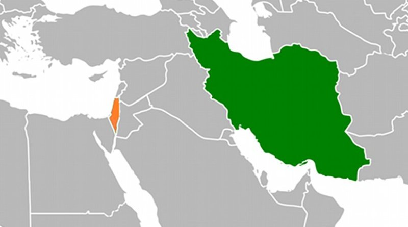 Locations of Iran and Israel. Source: Wikipedia Commons.