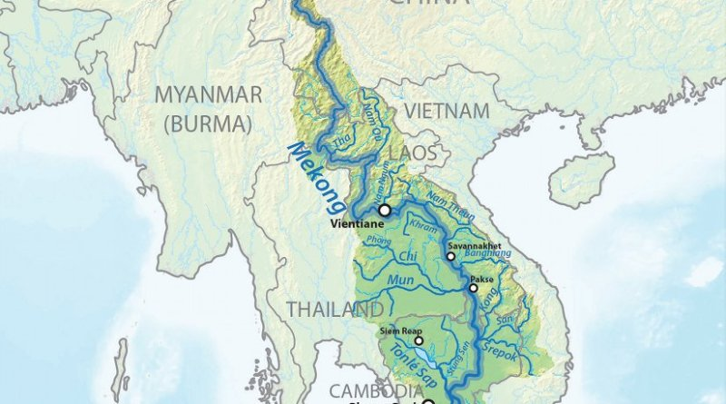 Tributaries of the Mekong River. Source: Wikipedia Commons.
