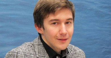 Sergey Karjakin, chess grandmaster from Russia. Photo by Stefan64, Wikipedia Commons.