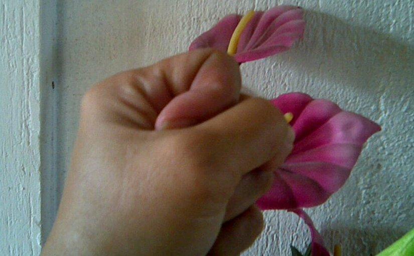 anger hand flower