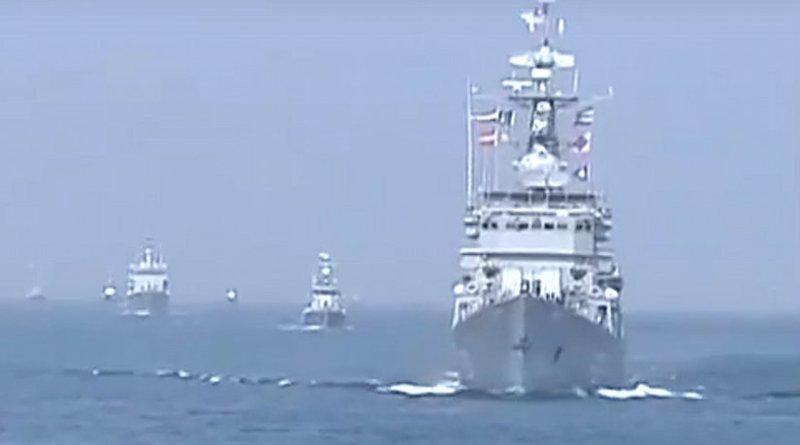 Myanmar Navy in Sea Shield 2014 operation. Source: Screenshot Myanmar Navy youtube video.