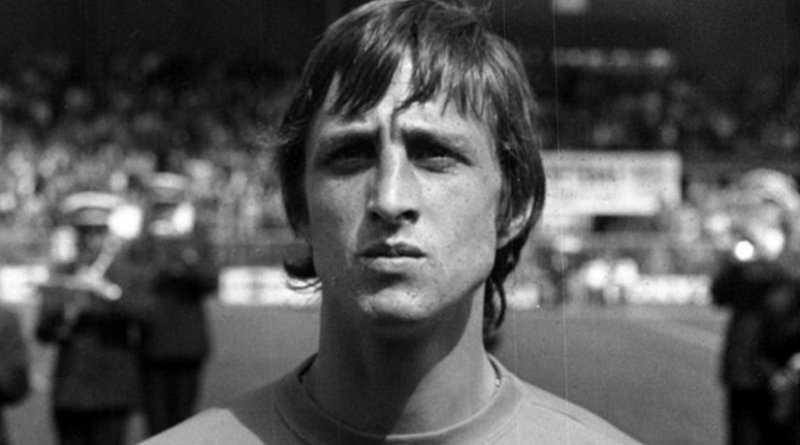 Soccer legend Johan Cruyff with the Netherlands in 1974. Source: Nationaal Archief, Wikipedia Commons.
