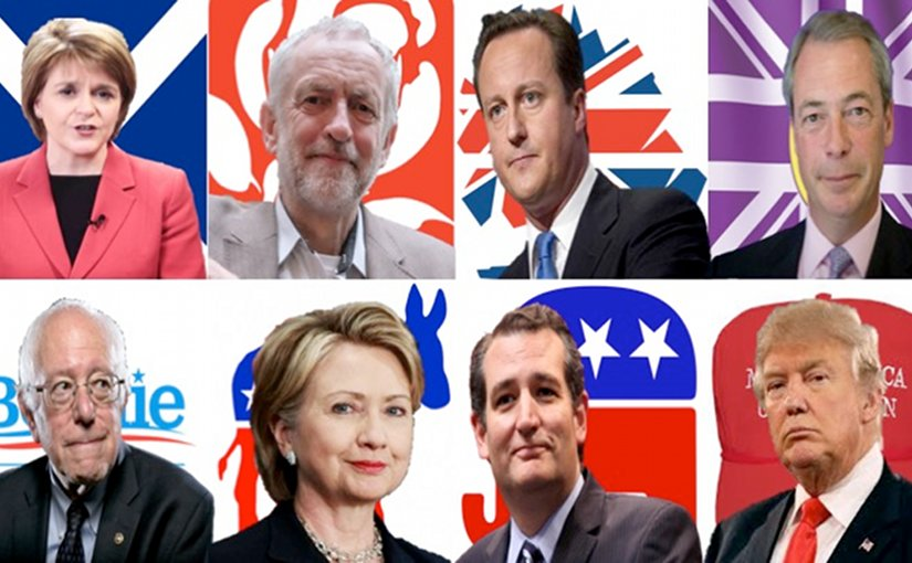 US UK politics. Graphic by Russell Whitehouse.