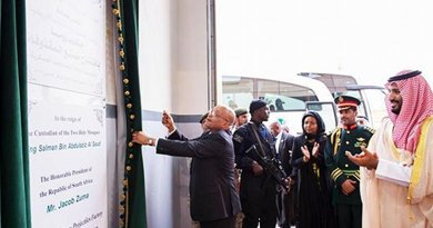 South African President Jacob Zuma opens SR900m Al-Kharj facility in Saudi Arabia to produce top-class artillery. Photo Credit: Arab News.