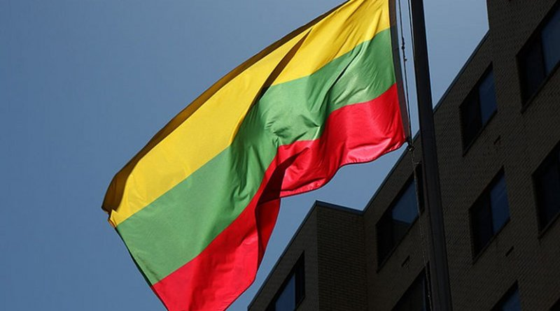 The flag of Lithuania. Photo by Ted, Wikimedia Commons.