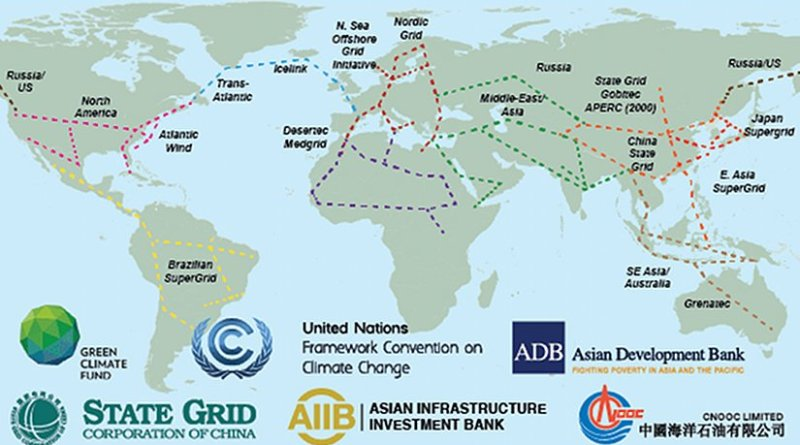 As the efficiencies of cross-border electricity interconnections prove themselves, a growing number of big global energy network visions are being developed. Many of this parallel existing fiber optic routes. Sources: State Grid Corp of China, Siemens, Institute of Electrical and Electronics Engineers (IEEE), Grenatec, North Sea Offshore Grid Initiative, others.