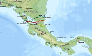 Nicaragua Canal Proposals. Source: Wikimedia Commons.