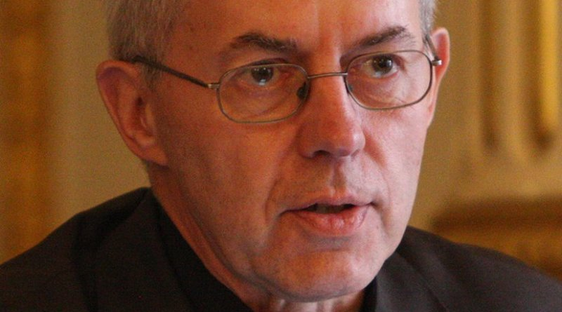 The Archbishop of Canterbury, the Most Revd and Rt Hon Justin Welby. Photo: Foreign and Commonwealth Office, Wikipedia Commons.