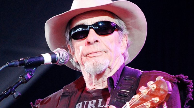 Merle Haggard performing at Bonnaroo in Manchester, Tennessee in 2009. Photo by whittlz, Wikipedia Commons.