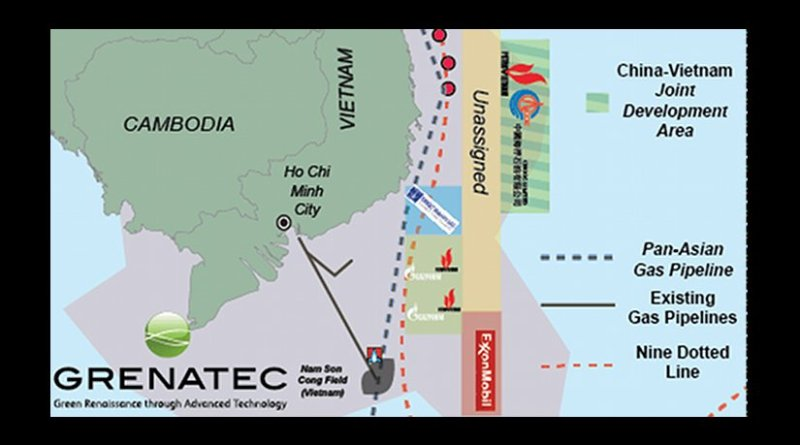 The South China Sea waters along the eastern edge of South Vietnam's coastal shelf could become a Joint Development Area in the South China Sea. Source: Grenatec.