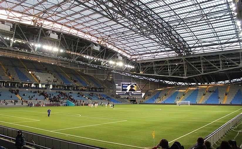 Astana Arena in Astana, Kazakhstan. Photo by ChelseaFunNumberOne, Wikipedia Commons.