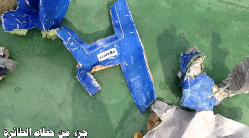 The Egyptian army has released pictures on Facebook of the wreckage of Flights MS804 and passengers' belongings found in the southern Mediterranean.