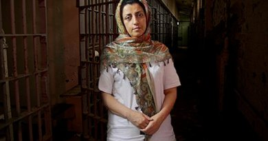 Iran's Nargess Mohammadi. Photo via Radio Zamaneh.