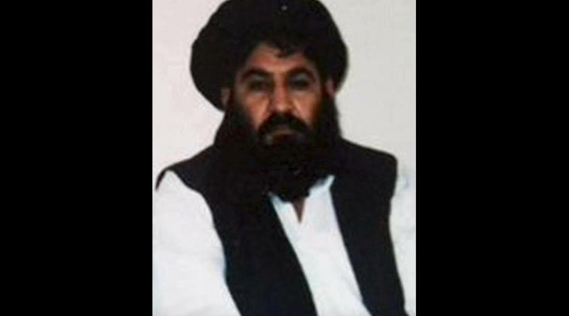 Leader of the Taliban, Mullah Akhtar Mansoor, as seen in this undated handout photograph by the Taliban. Source: Wikipedia Commons.
