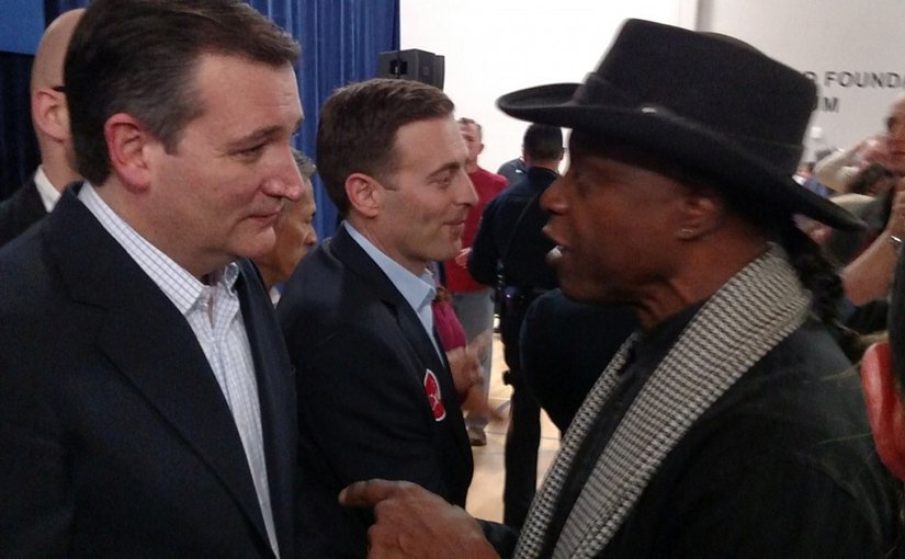 Ted Cruz and Lloyd Marcus.