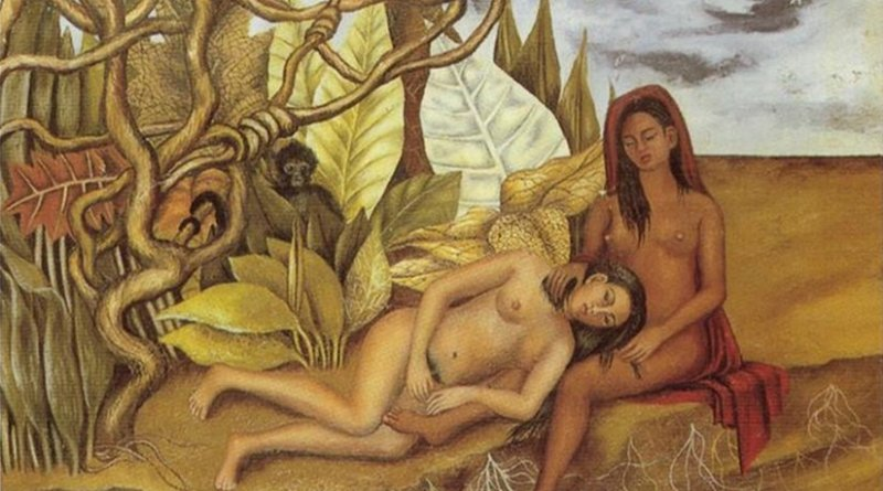 """Two Nudes in the Forest (The Earth Itself)"" by Frida Kahlo."