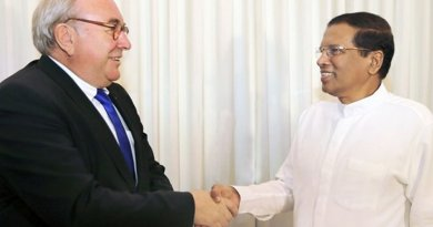 Head of visiting German Business Delegation to Sri Lanka, and the Parliamentary State Secretary for Economic Affairs and Energy, Mr. Uwe Beckmeyer called on President Maithripala Sirisena