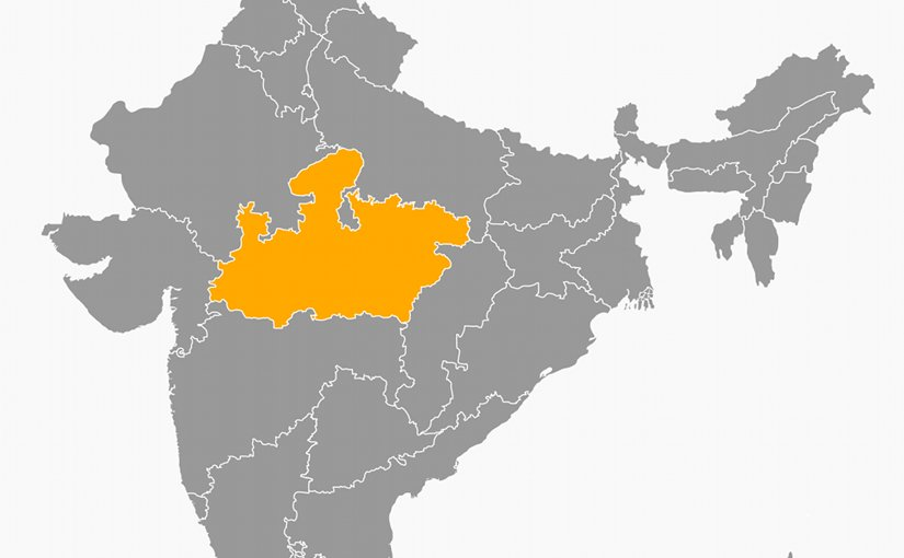 Location of Madhya Pradesh in India. Source: Wikipedia Commons.