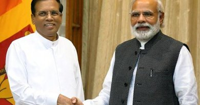 Sri Lanka's President Maithripala Sirisena and Indian Prime Minister Narendra Modi, Source: Sri Lanka Government.