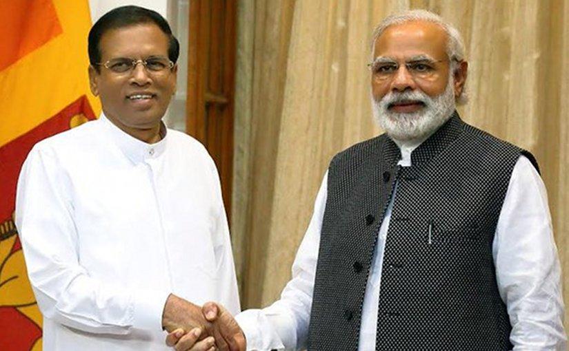 Sri Lanka's President Maithripala Sirisena and Indian Prime Minister Narendra Modi, Source: Sri Lanka Government.
