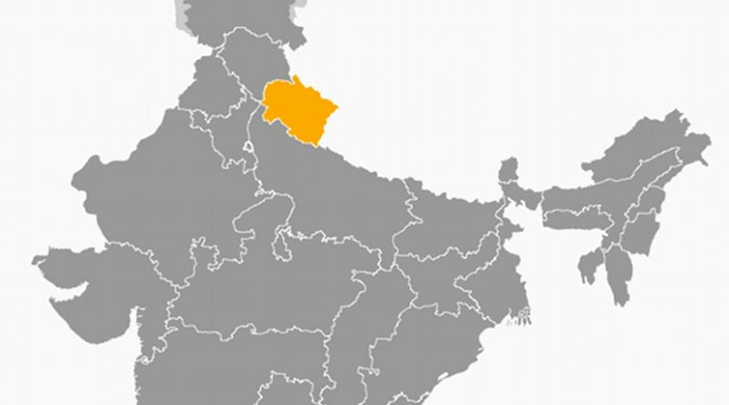 Location of Uttarakhand in India. Source: Wikipedia Commons.