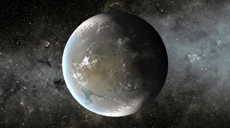 An artist's conception of Kepler-62f, a planet in the 'habitable zone' of a star located about 1,200 light-years from Earth. Credit NASA Ames/JPL-Caltech/T. Pyle