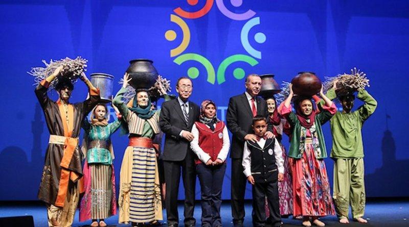 UN Secretary-General Ban Ki-moon (left) with Turkish Prime Minister Recep Tayyip Erdoğan (right). Source: WHS
